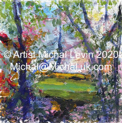 Hulcote April 1 painting